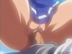 Sexy black haired Anime swallowing Hentai Sex expert